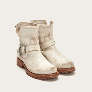 Frye • Veronica leather motorcycle booties